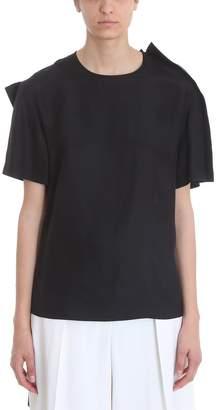 Krizia Oversized Black Silk T-shirt