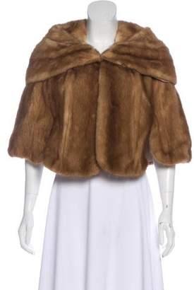 Fur Open Front Cape