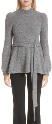 Co Belted Cashmere Blend Sweater