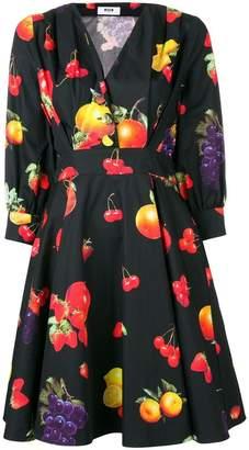 MSGM fruit print dress