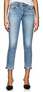 3x1 Women's W3 High Rise Straight Authentic Crop Jeans - Blue