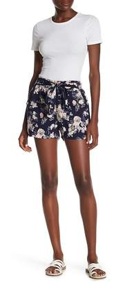 Angie Front Tie Printed Shorts