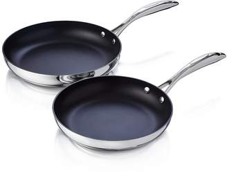 Scanpan CTP Mirror Polished Stainless Steel 2-Piece Fry Pan Set - 100% Exclusive