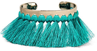 Etro - Gold-tone, Tassel And Stone Cuff - one size $555 thestylecure.com