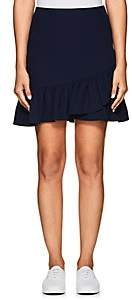 Barneys New York WOMEN'S RUFFLE CREPE SKIRT-NAVY SIZE XL