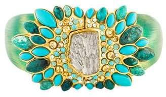 Alexis Bittar Montauk Turquoise, Crystal, & Lucite Bracelet