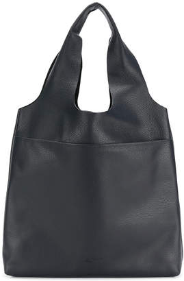 Jil Sander Navy embossed double handle tote bag