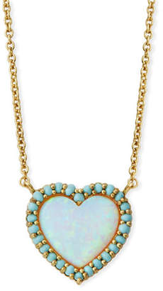 Tai Mini Heart Glass-Opal Pendant Necklace