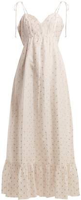 Athena PROCOPIOU Tiered fil-coupé dress