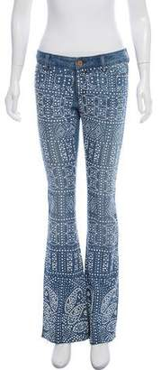 Michael Kors Mid-Rise Embellished Flared Jeans