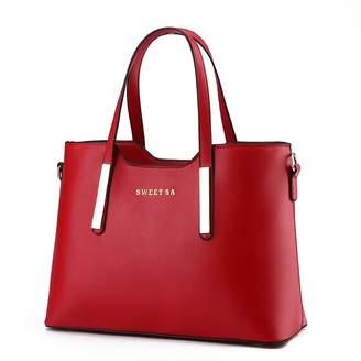 Pahajim PU Leather Womens Shoulder Bags Top-Handle Handbag Tote Bag