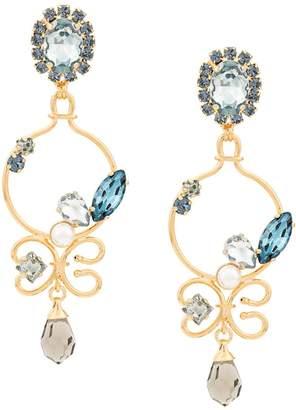 Erdem blue crystal earrings