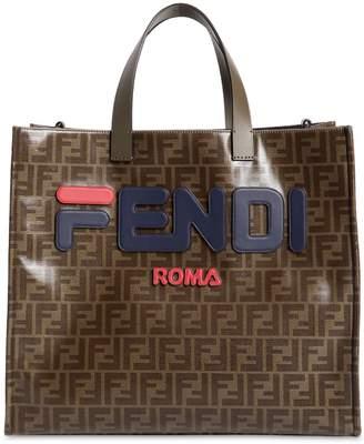 Fendi Fila Small Coated Canvas Tote Bag