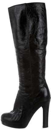 Saint LaurentYves Saint Laurent Patent Knee Boots