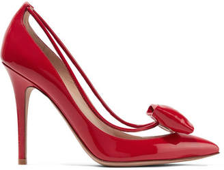 Valentino Garavani Glassglow Pvc-trimmed Patent-leather Pumps - Red