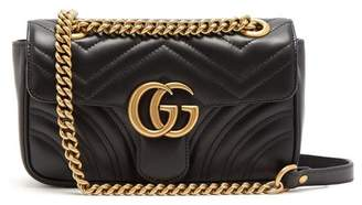 Gucci - Gg Marmont Mini Quilted Leather Cross Body Bag - Womens - Black