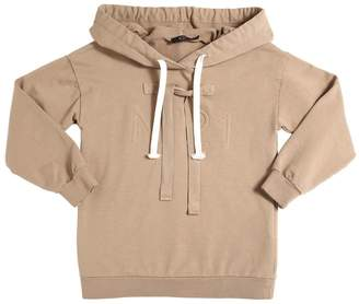 N°21 (ヌメロ ヴェントゥーノ) - N°21 エンボスロゴ フード付きコットンスウェットシャツ