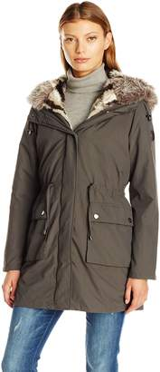 Steve Madden Women's Anorak with Detachable Faux Fur Liner