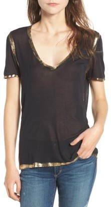 Women's Zadig & Voltaire Tino Foil Tee $98 thestylecure.com