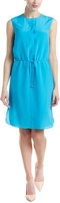 Magaschoni Silk Drawstring Dress