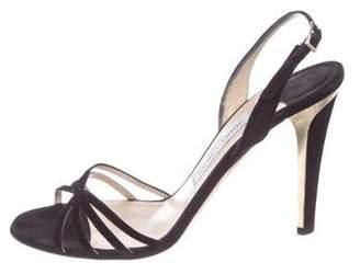 Jimmy Choo Suede High-Heel Sandals