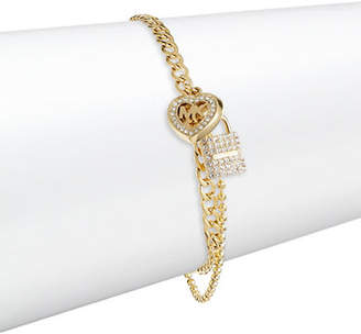 Michael Kors Crystal Pad Chain Bracelet