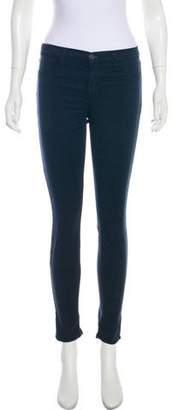 J Brand Mid-Rise Super Skinny Pants