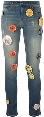 Each X Other pin buttons embellished jeans