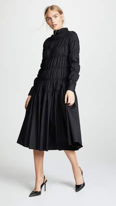 Jourden Poplin Gathered Midi Dress