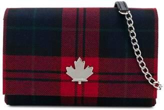 DSQUARED2 tartan shoulder bag