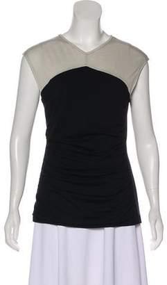 Narciso Rodriguez Wool Cap Sleeve Top