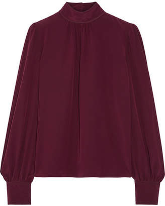 Marc Jacobs - Silk Crepe De Chine Blouse - Merlot $395 thestylecure.com