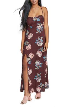 Show Me Your Mumu Chocolate & Ruffles Maxi Dress