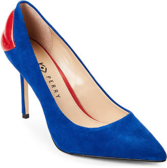 Katy Perry Space Blue Femi Lips Suede Pumps