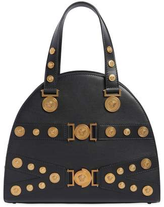 Versace Tribute Leather Top Handle Bag