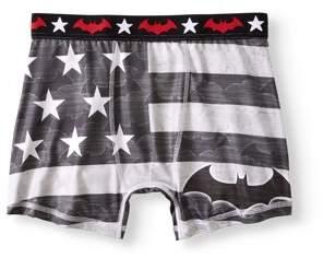 Batman Big Men's Gears of Justice Flag Boxer Brief