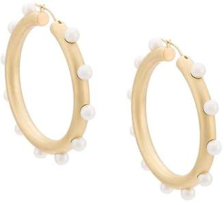 Irene Neuwirth pearl embellished hoop earrings