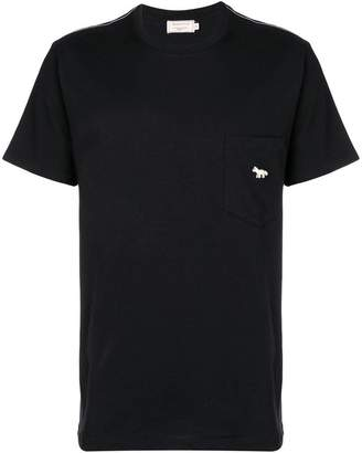 MAISON KITSUNÉ Quadri fox patch t-shirt