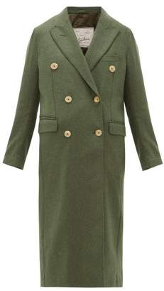 Giuliva Heritage Collection The Cindy Merino Wool Twill Double Breasted Coat - Womens - Dark Green