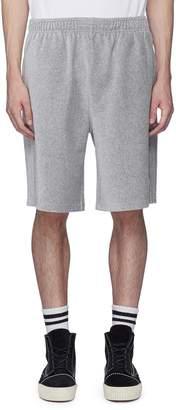 Alexander Wang Flip girl embroidered velour sweat shorts
