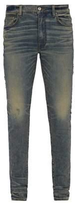 Amiri Stack Slim Leg Jeans - Mens - Indigo
