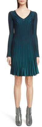 Kenzo Pleated Sweater Dress