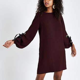 River Island Womens Dark red long sleeve swing dress