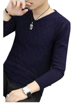 a24db04084 at Amazon Canada · XQS Mens Casual V Neck Long Sleeve Slim Fit Pullover  Knit Sweater L