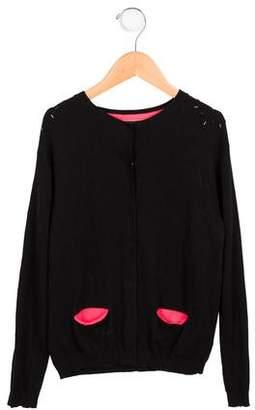 Catimini Girls' Embellished Knit Cardigan