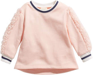 First Impressions Baby Girls Fleece-Trim Sweater