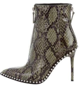Alexander Wang 2017 Eri Embossed Leather Ankle Boots