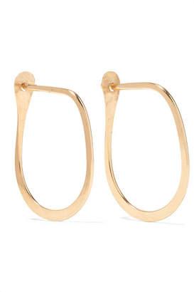Melissa Joy Manning Teardrop 14-karat Gold Hoop Earrings