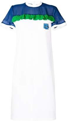 Prada ruffle detail dress