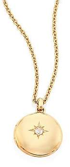 Astley Clarke Women's Cosmos Small Diamond& 14K Yellow Gold Locket Necklace